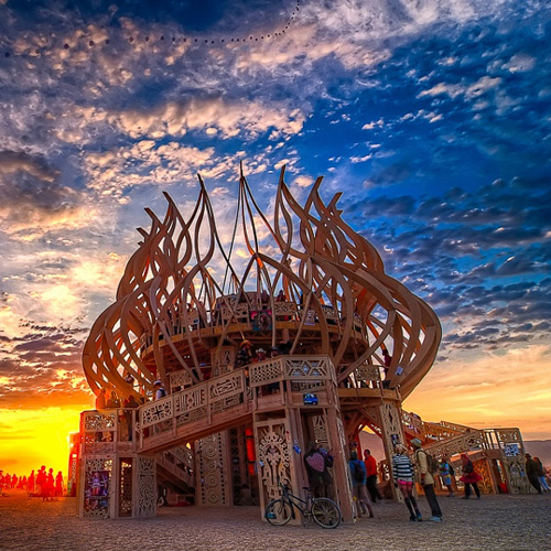 Fire of Fires Temple – Burning Man 2009