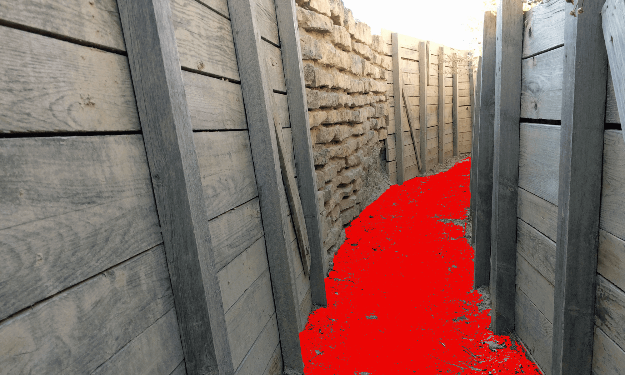 George Orwell Trenches in the Monegros, Spain | Burningmax Land Art Installation