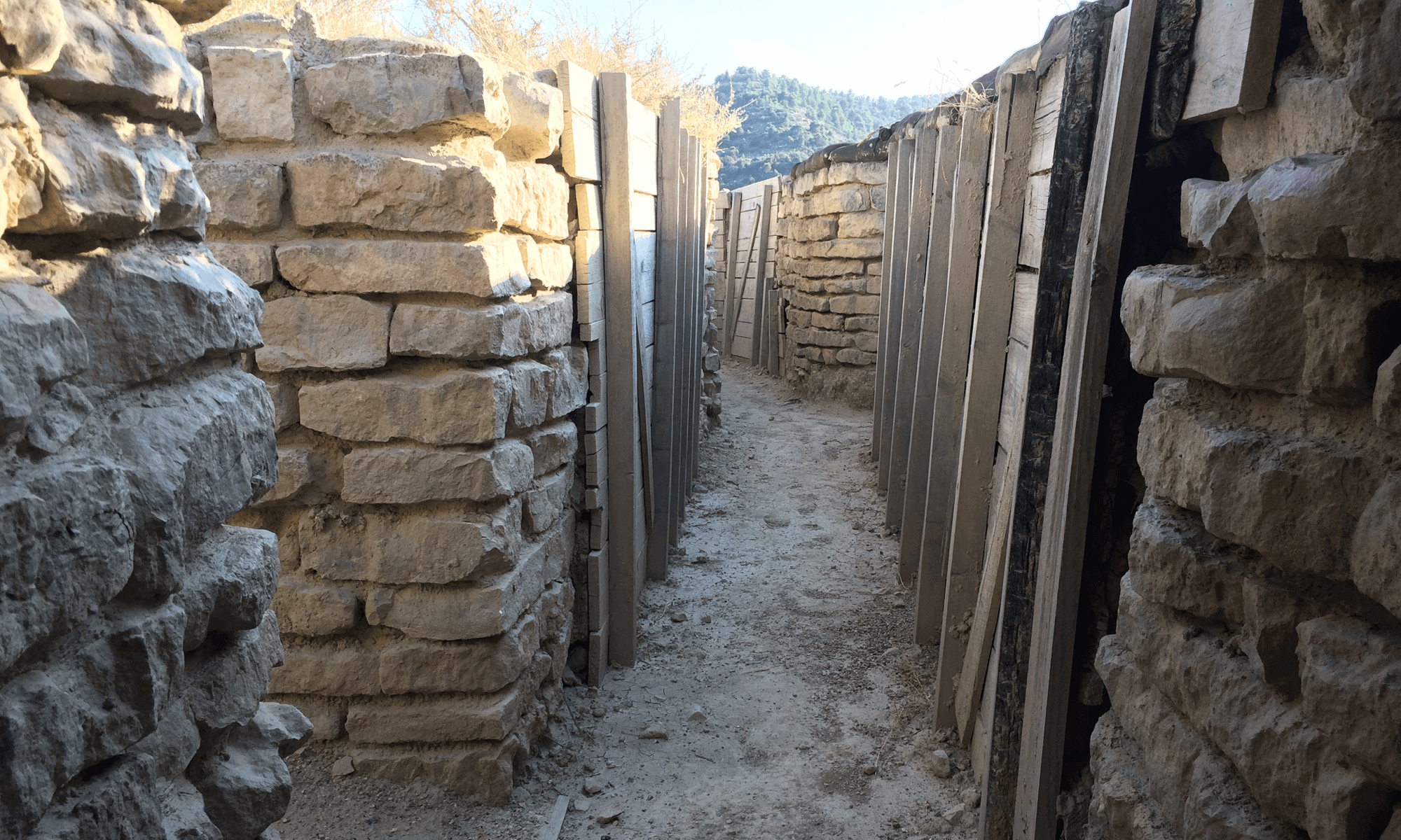 George Orwell Trenches in the Monegros, Spain