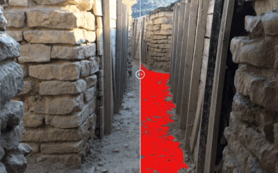 Mock-ups of the Art Installation for the Orwell Trenches in The Monegros