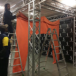 Setting up the installation at Indica Sativa Trade 2019