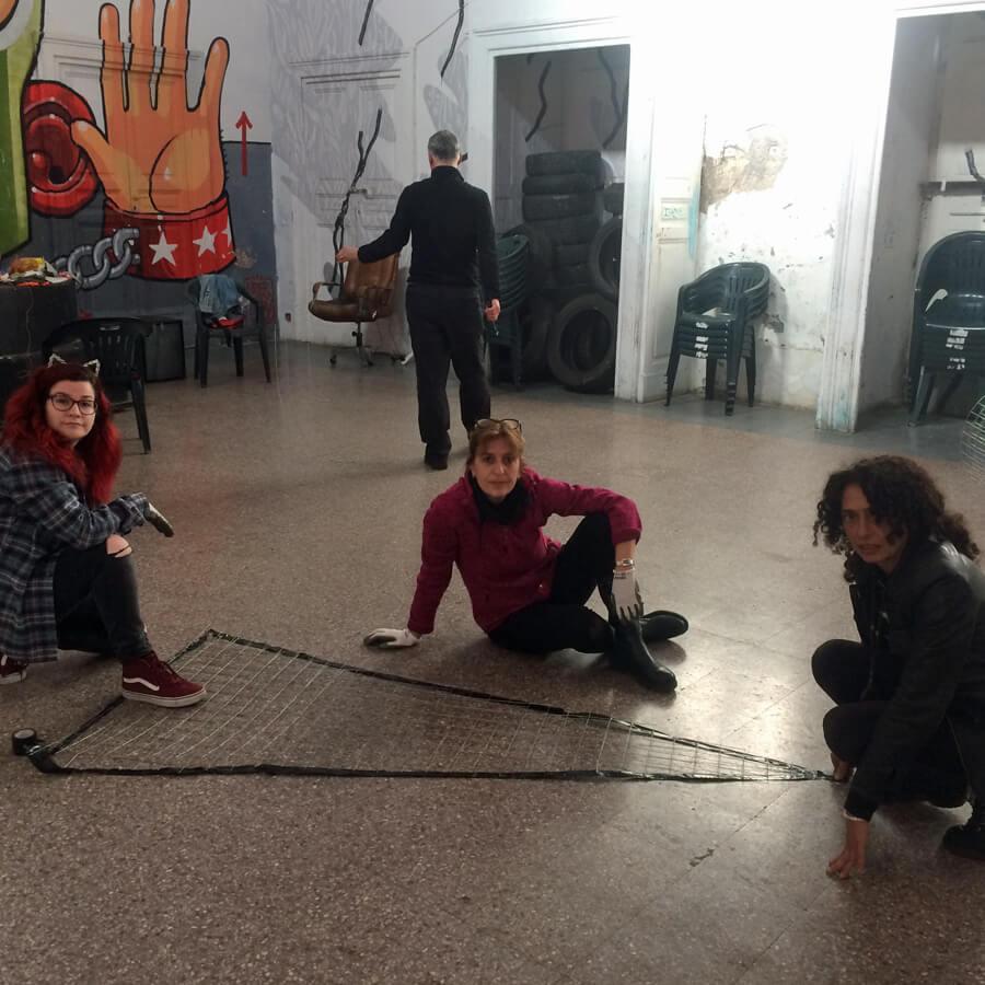Apelle   A Land Art project by Burningmax   Lisa, Alessandra, Luana and Dimitri