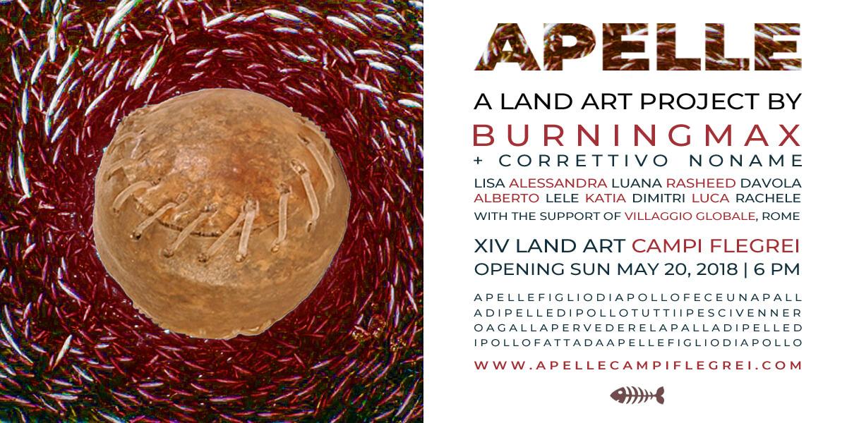 Apelle | Land Art Installation by Burningmax | XIV Land Art Campi Flegrei