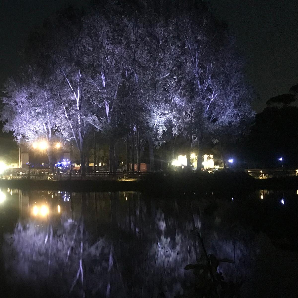 Burningmax: Breathe | Art installation | Villa Ada lake, Rome Italy | Installation details