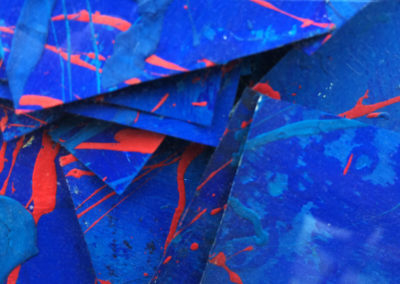 Post-it Art | Box of blues (detail) - 2002 || Acrylics on post-it notes, boxed