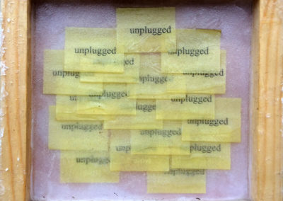 Post-it Art | Squared unplugged - 1997 || Acrylics on post-it notes in wax