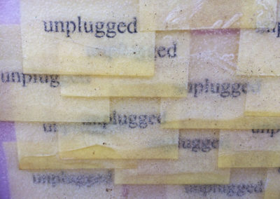 Post-it Art | Unplugged (detail) - 1997 || Printed post-it notes in wax