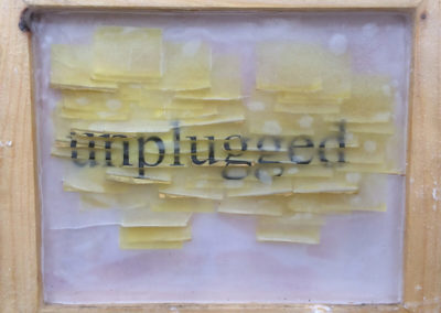 Post-it Art | Unplugged - 1997 || Printed post-it note in wax