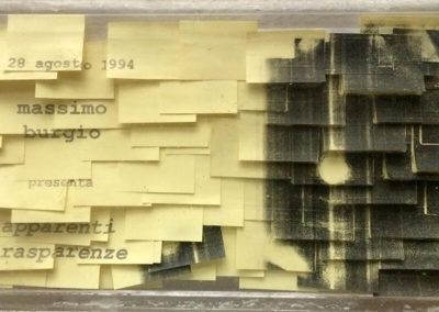 Post-it Art | Apparenti trasparenze - Expo sign - 1994