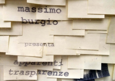 Post-it Art | Apparenti trasparenze - Expo sign (detail) - 1994
