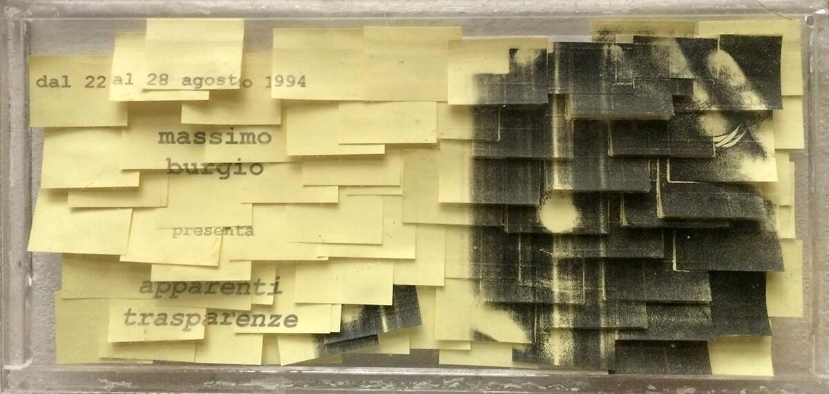Post-it Art   Apparenti trasparenze - Expo sign - 1994