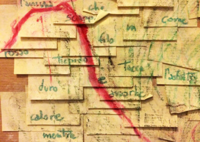Post-it Art | L'anima che scappa (detail) - 1998