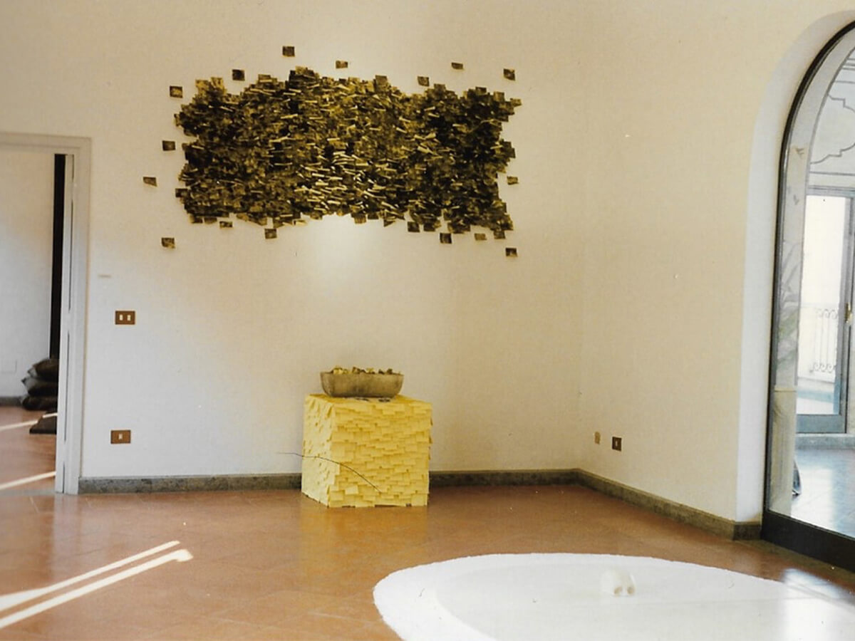 Post-it Art | Untitled with urban smog / Villa Mazzanti installation - 1996