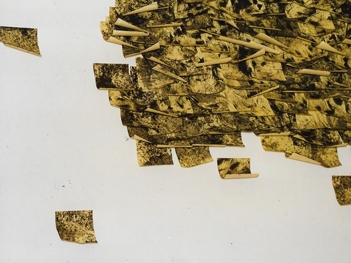 Post-it Art | Untitled with urban smog / Villa Mazzanti installation (detail) - 1996