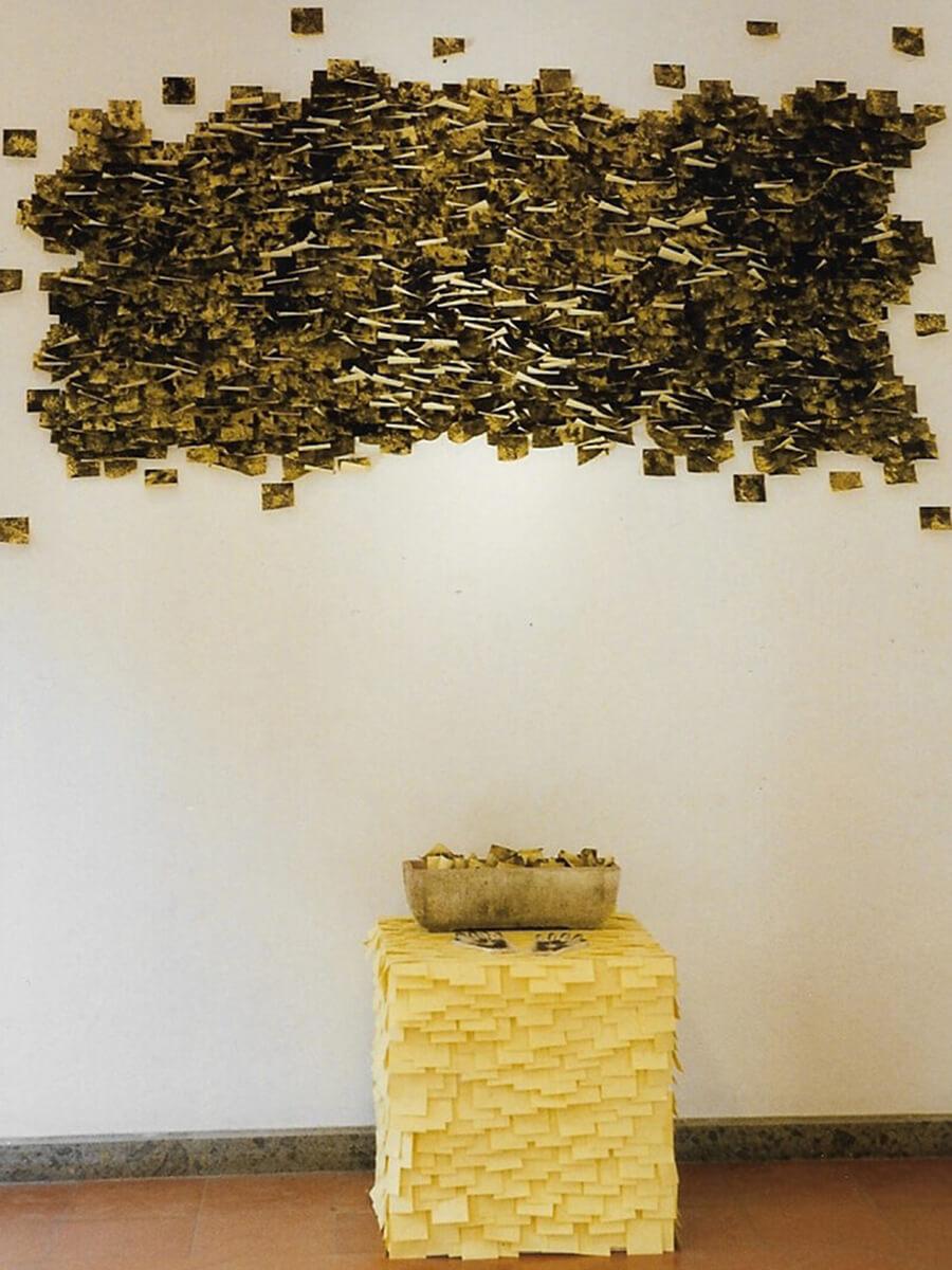 Post-it Art   Untitled with urban smog / Villa Mazzanti installation - 1996