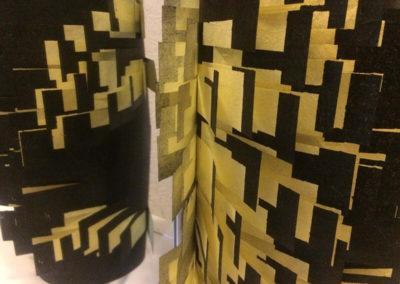 Untitled black cylinder (detail)