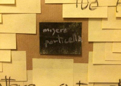 Post-it Art | Misera particella (detail) - 1998